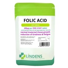 Folic Acid Tablets 240 Tablets, 400mcg - One a Day Folacin Vitamin B9 B-9 B 9