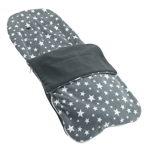 Snuggle Summer Footmuff Compatible With Mothercare Orb - Grey Star