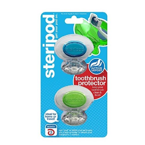 Steripods Clear Double Toothbrush Protectors
