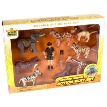 African Safari Action Figure Playset - Wild Republic Eco Expedition Moveable -  wild republic african safari eco expedition action moveable playset