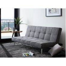 Upholstered Sofa Bed in Grey HASLE