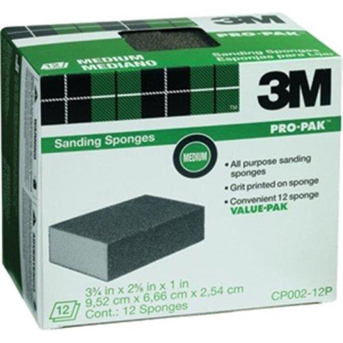 3M CP002-12P 3.75 x 2.62 x 1 in. Medium Sanding Sponge, 12 Pack