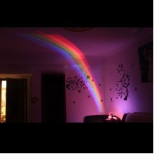 Creative Rainbow Romantic Star LED Projecting Lamp Night Light