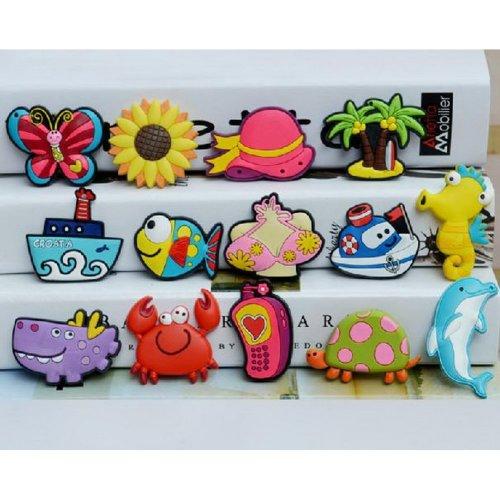 [Sunshine & Beach] Magnets Lovely Fridge Magnets for Kids,14Pcs,Random Style