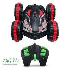 RC Amphibious Double-Sided All Terrains Twister Stunt Car - 2.4GHz Sync System for Multi Players