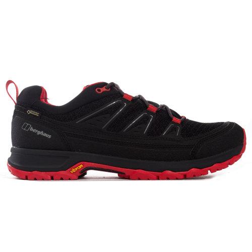 Berghaus Explorer Active GTX Mens Outdoor Walking Trainer Shoe Black/Red