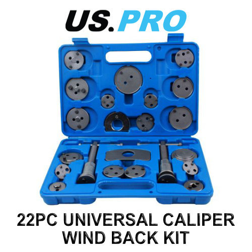 US PRO 22pc Universal Brake Piston Caliper Wind Back Tool Kit 6216