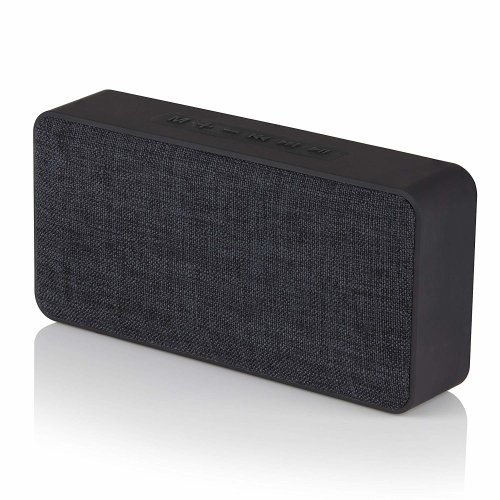 Akai Portable Wireless Bluetooth Speaker with Built-In Rechargeable Battery and Microphone