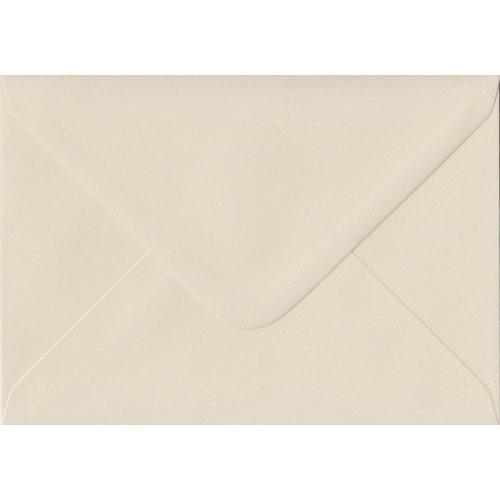 Ivory Gummed C6/A6 Coloured Ivory Envelopes. 100gsm FSC Sustainable Paper. 114mm x 162mm. Banker Style Envelope.