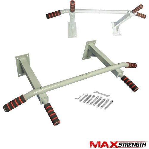 Pull Up Bar Wall Mounted Chin Ups Exercise Home Door Iron Bracket