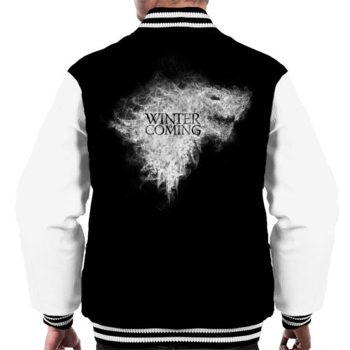 Winter Is Coming Direwolf Sigil Smoke Game Of Thrones Men's Varsity Jacket