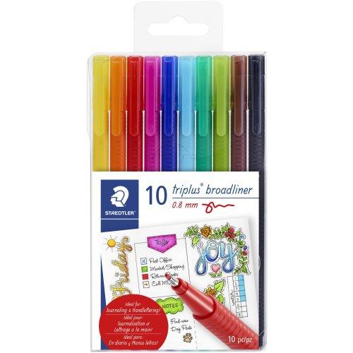 Triplus Broadliner Pens 10/Pkg-