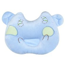 Cartoon Breathable Little Pillows Prevent Migraine For 0-1 Years-Blue Cow