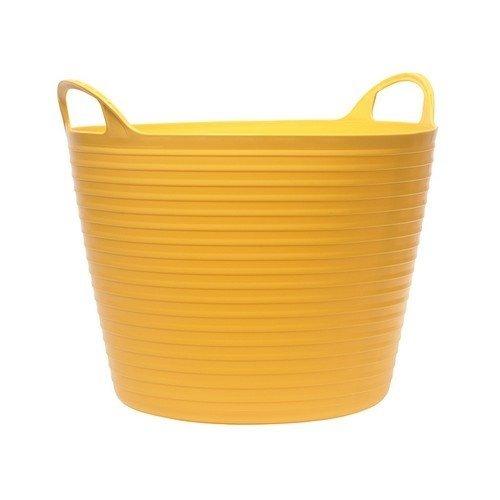 Faithfull FAIFLEX28Y Heavy-Duty Polyethylene Flex Tub 28 Litres Yellow
