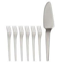Curve Cake Serving Set, 7-Pieces, Stainless Steel