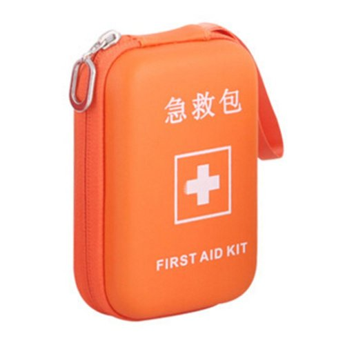 Portable First Aid Kit Travel Medical Box for Camping, Hiking-Orange