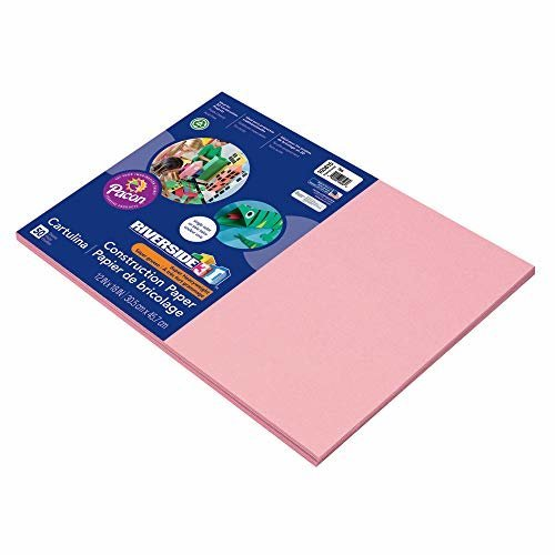 Pacon Groundwood Construction Paper 12in x 18in Pink