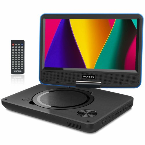 "WONNIE 11.5"" Portable DVD Player with 9.5 inches 270° Swivel Screen, Best Gift for Kids, Support USB/SD Slot, Direct Play in Formats..."