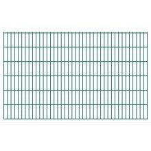 vidaXL 2D Garden Fence Panels 2008x1230 mm 50 m Green