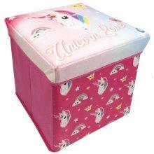 Children's Cute & Colourful Unicorn Toy Storage Box in Bright Unicorn Colours
