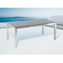 Garden Table - Outdoor Dining Table - Tempered Glass - 6 Seater -   - GROSSETO