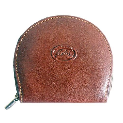Tony Perotti Italian Vegetale Leather Zip Round Coin Purse TP1123G