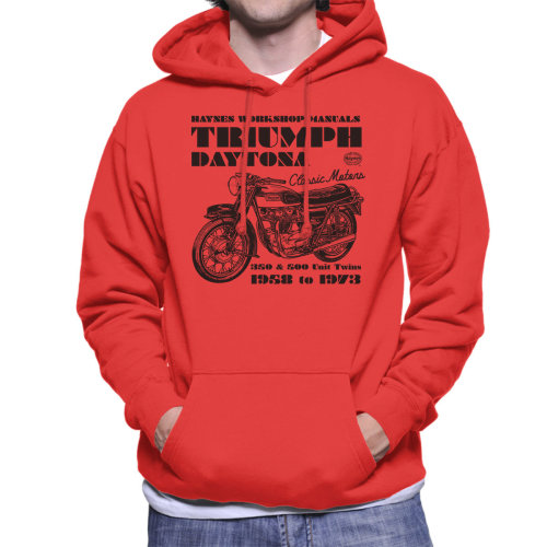 Haynes Owners Workshop Manual Triumph Daytona 350 500 Men's Hooded Sweatshirt