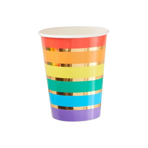 Rainbow Party Paper Cups X 8 Birthday Partyware