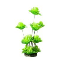 Emulational Plants Aquarium Decor Fish Tank Decoration,Green Flower