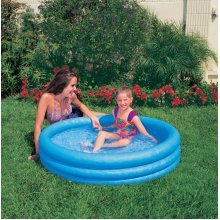 "Intex 45"" X 10"" Crystal Blue Three Ring Inflatable Paddling Pool"