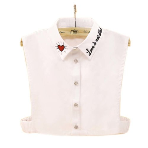 Elegant Women's Fake Half Shirt Blouse Collar Detachable Collar, #10
