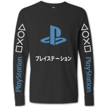 PlayStation Japanese Blue Logo Long Sleeve T-Shirt