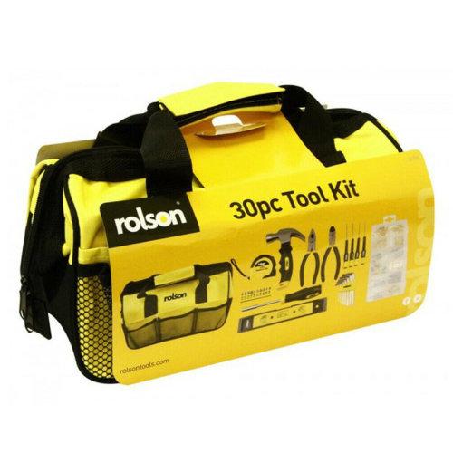 30pcs Tool Kit DIY Set Fix Repair Home Basic Household Toolkit Rolson 36796