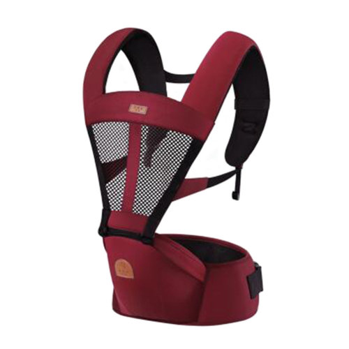 Baby Carrier Double Shoulders Seat Carrier,oxford fabric Baby Carrier Red