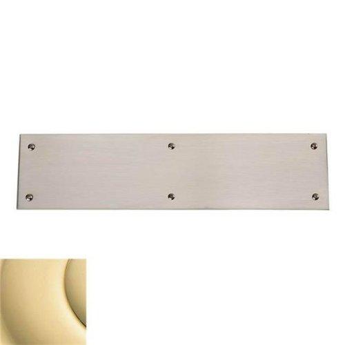 Baldwin 2124030 Push Plate 4 x 16 in. Beveled Edge Bright Brass