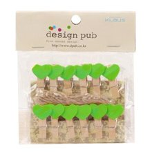 Mini Natural Wooden Clothespins Photo Paper Peg Pin Craft Clips with 2m Jute Twine, P