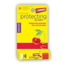 Carmex Cold Sores Click Stick Lip Moisturizer with Sunscreen, Cherry Flavor, SPF 15 - 0.15 Oz / Stick (12 Pack)