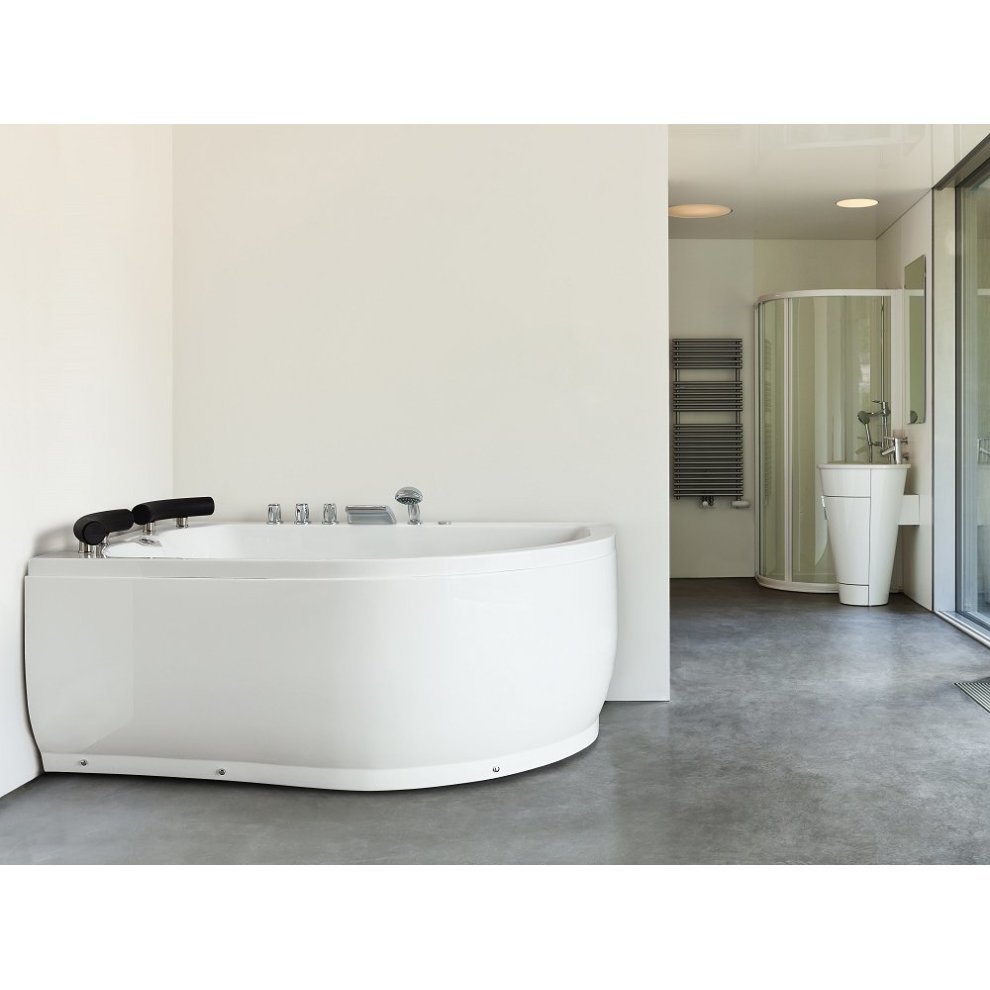 Right Hand Whirlpool Corner Bath with LED PARADISO on OnBuy
