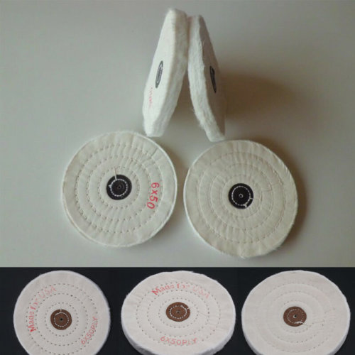 """Double Stitched 100% Cotton Buffing Polishing Wheel 150 Mm 6"""" Bench Grinder HA10"""