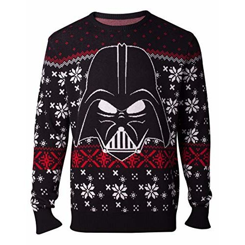 Star Wars Jumpers Darth Vader Knitted Men's Sweater Multicolor-2XL (New)