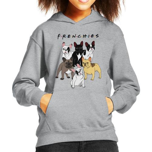 Friends French Bulldog Mashup Kid's Hooded Sweatshirt