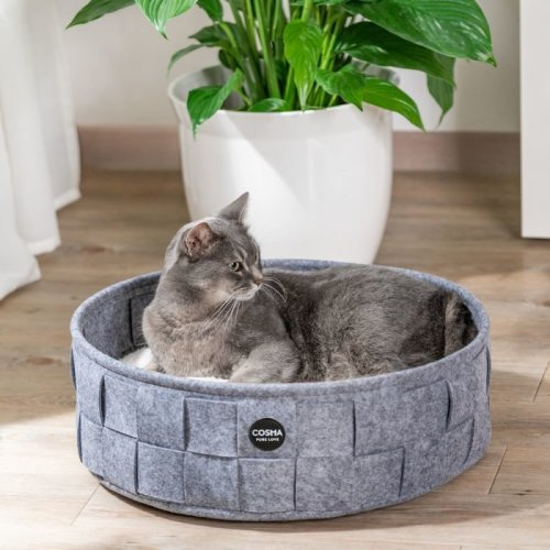 Cosy Round Cat Bed Soft Cushion