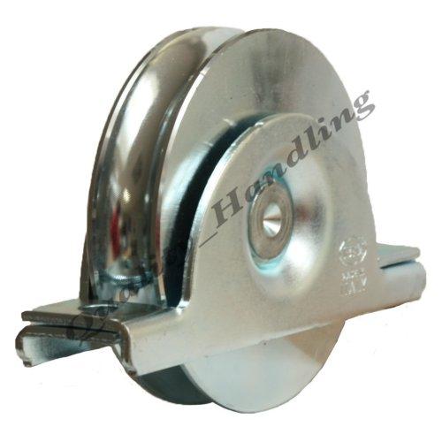 100mm pulley wheel in bracket, sliding gate, heavy duty for 16mm bar