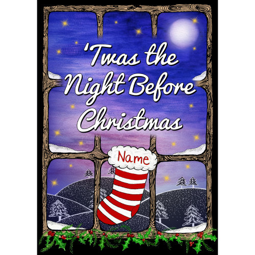PERSONALISED Children's Book Twas The Night Before Christmas, Add Name