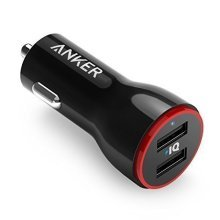 Anker 24W PowerDrive 2, Dual USB Car Charger with MultiProtect Safety System