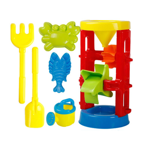 6 Piece Beach sand Toy Set, Bucket, Shovels, Rakes,Perfect for Holding Childrens' Toys#B