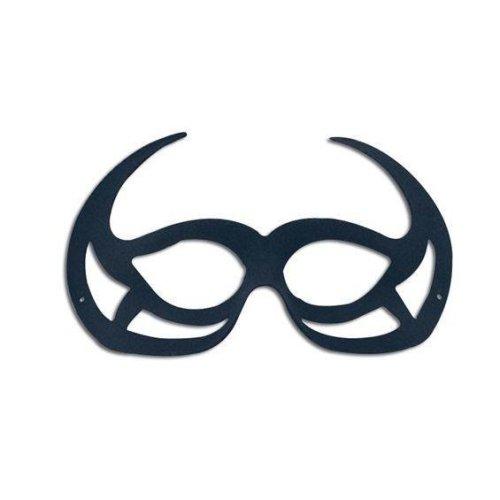 Black Demon Domino Eye Mask.
