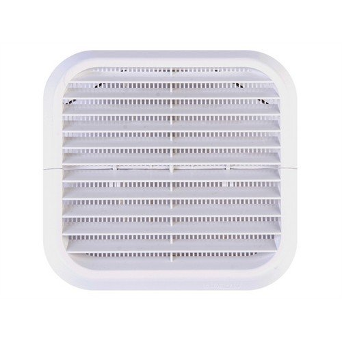 Xpelair 93132AW Wall Grille White Square 100mm