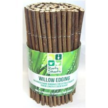 Roots & Shoots Branded Willow Lawn Border Edging, Approximately 100cm Length x -  edging garden lawn 20cm willow x border edge long wood 100cm roll