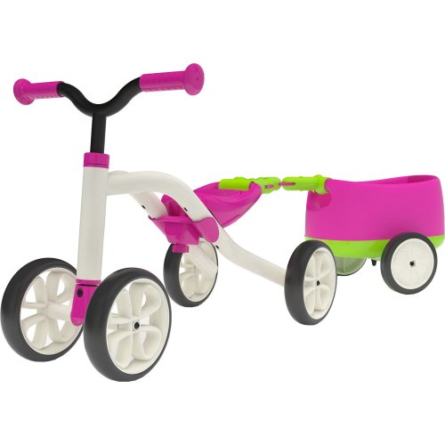 "Chillafish QUADIE + TRAILIE: 4-Wheeled ""Grow-With-Me"" Ride-On Quad and Trailer Combo, Pink"
